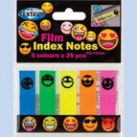 Index hartie adeziv imprimeuri EMOJIDEX , 45 x 12mm, 5 culori NEON/set , 125 file/blister