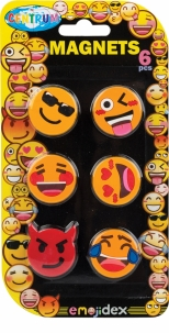 Magneti EMOJIDEX color - diametru 28 mm - 6 buc / blister