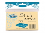 Notes adeziv 76x127mm - 100 file - galben pal