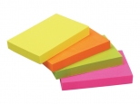 Notes adeziv 76x51mm - 100 file - culori asortate - neon