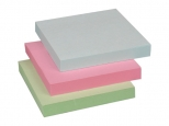 Notes adeziv 76x76mm - 100 file - roz/albastru/verde - pal