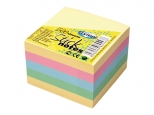 Notes adeziv 76x76mm cub - culori pastelate - 400 file