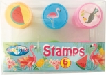 Stampile FLAMINGO rotunde diam. 25mm 6buc/display